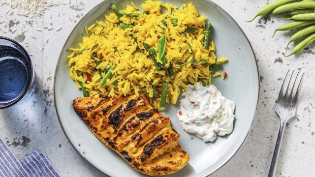 Tandoori Hasselback Chicken with Turmeric Rice Recipe