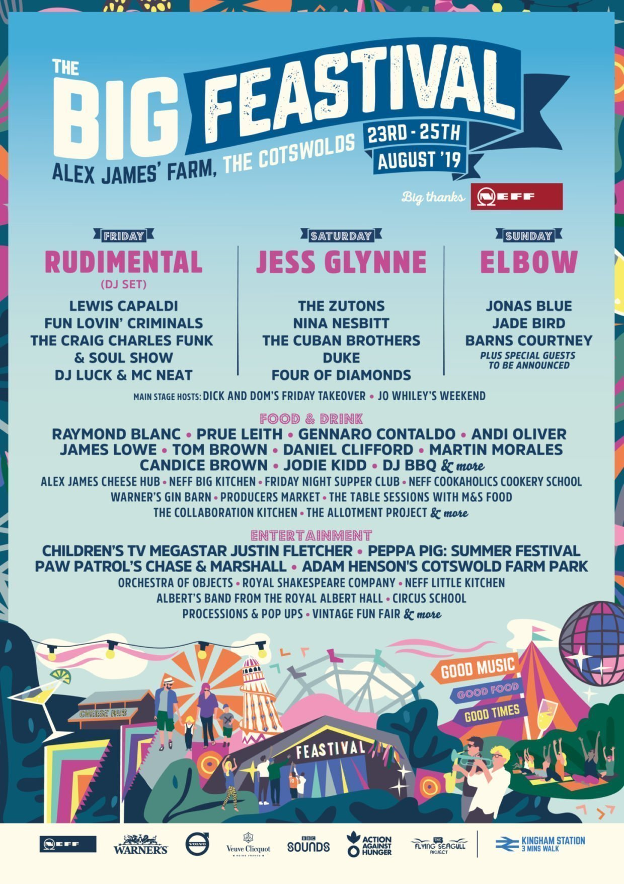 The Big Feastival 2019 Line-up Poster