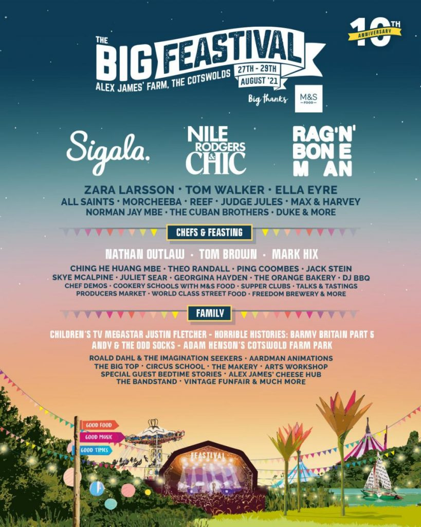 The Big Feastival 2021 Line-up Poster