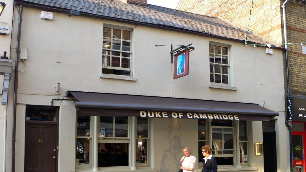 The Duke of Cambridge Bar in Jericho, Oxford