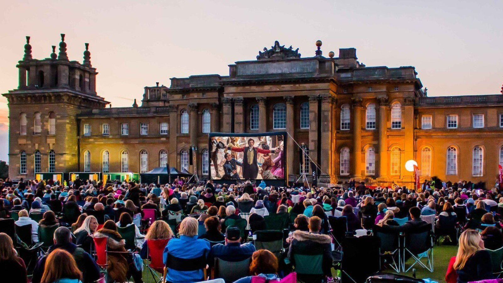 The Luna Open-Air Cinema at Blenheim Palace