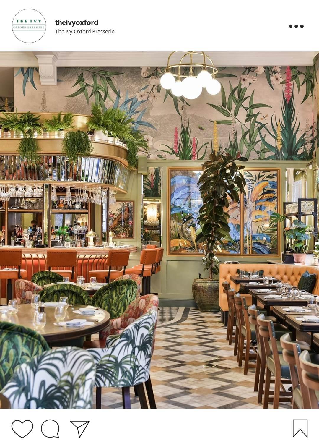 Instaworthy restaurants in Oxfordshire - The Ivy Oxford Brasserie