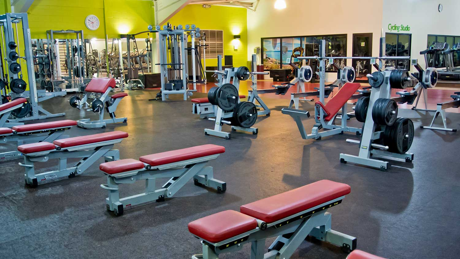 Weight Training Area at The Oxfordshire Health & Racquets Club
