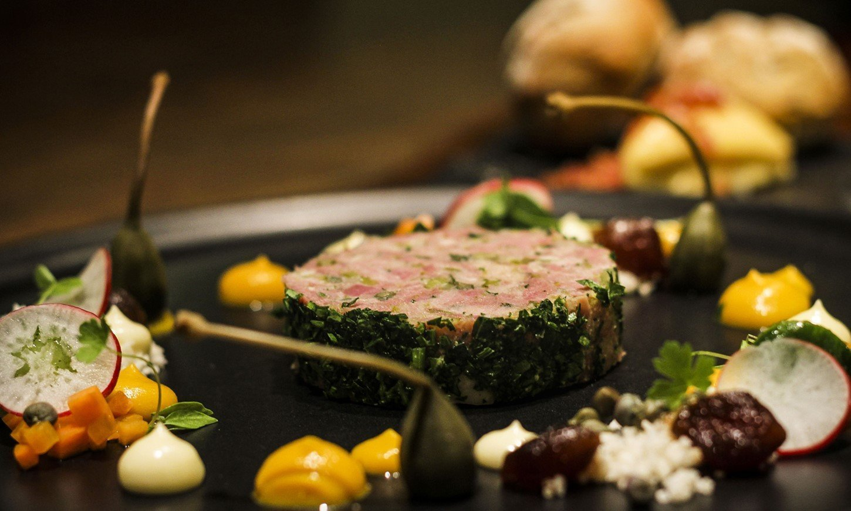The White Hart Fyfield Fine Dining Pub Restaurant in Oxfordshire - Food - Ham Hock Terrine