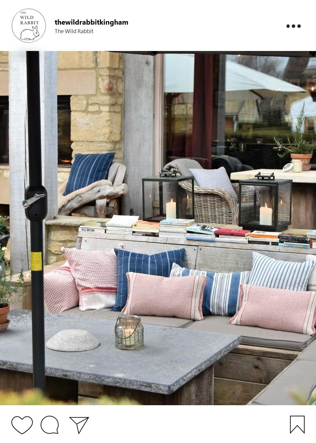 Instaworthy restaurants in Oxfordshire - The Wild Rabbit, Kingham