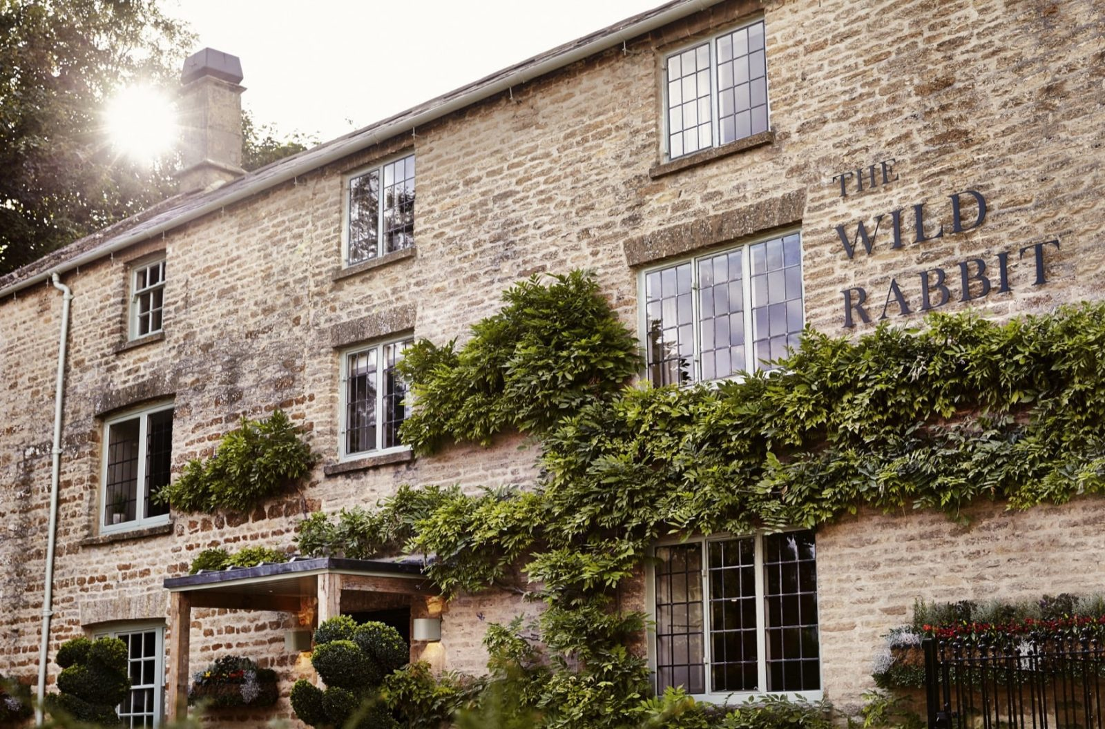 Outside The Wild Rabbit, Kingham, Oxfordshire, Pub with Room