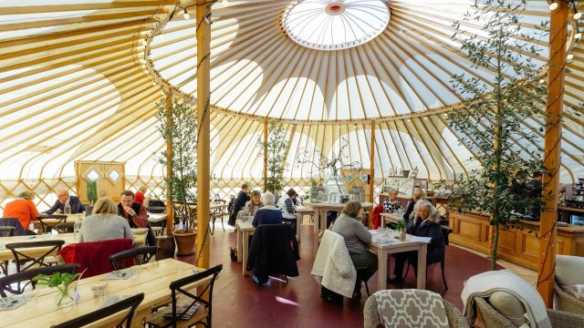 The Yurt Cafe at Nicholsons