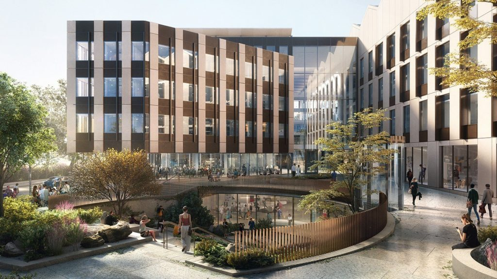 The concept design for the Tinbergen building replacement - a new Life and Mind Building