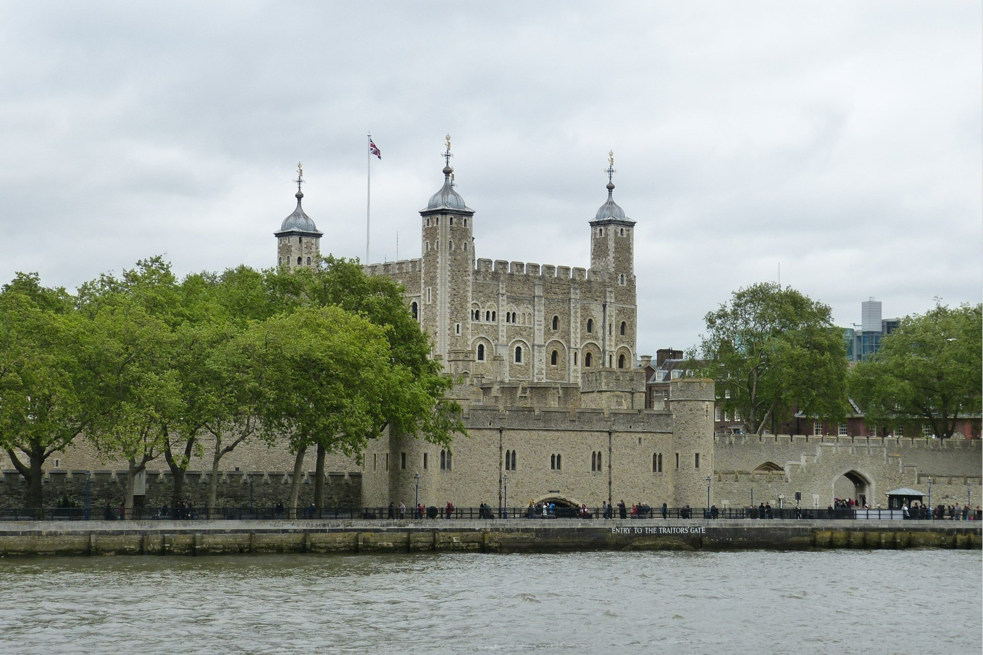 Tower of London on the River Thames in London