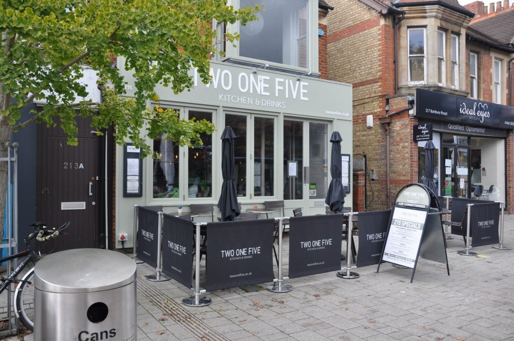 Two One Five Kitchen & Drinks, Summertown, Oxford