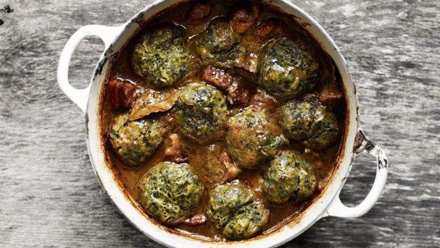Venison Stew with Nettle Dumplings Recipe by Gill Meller