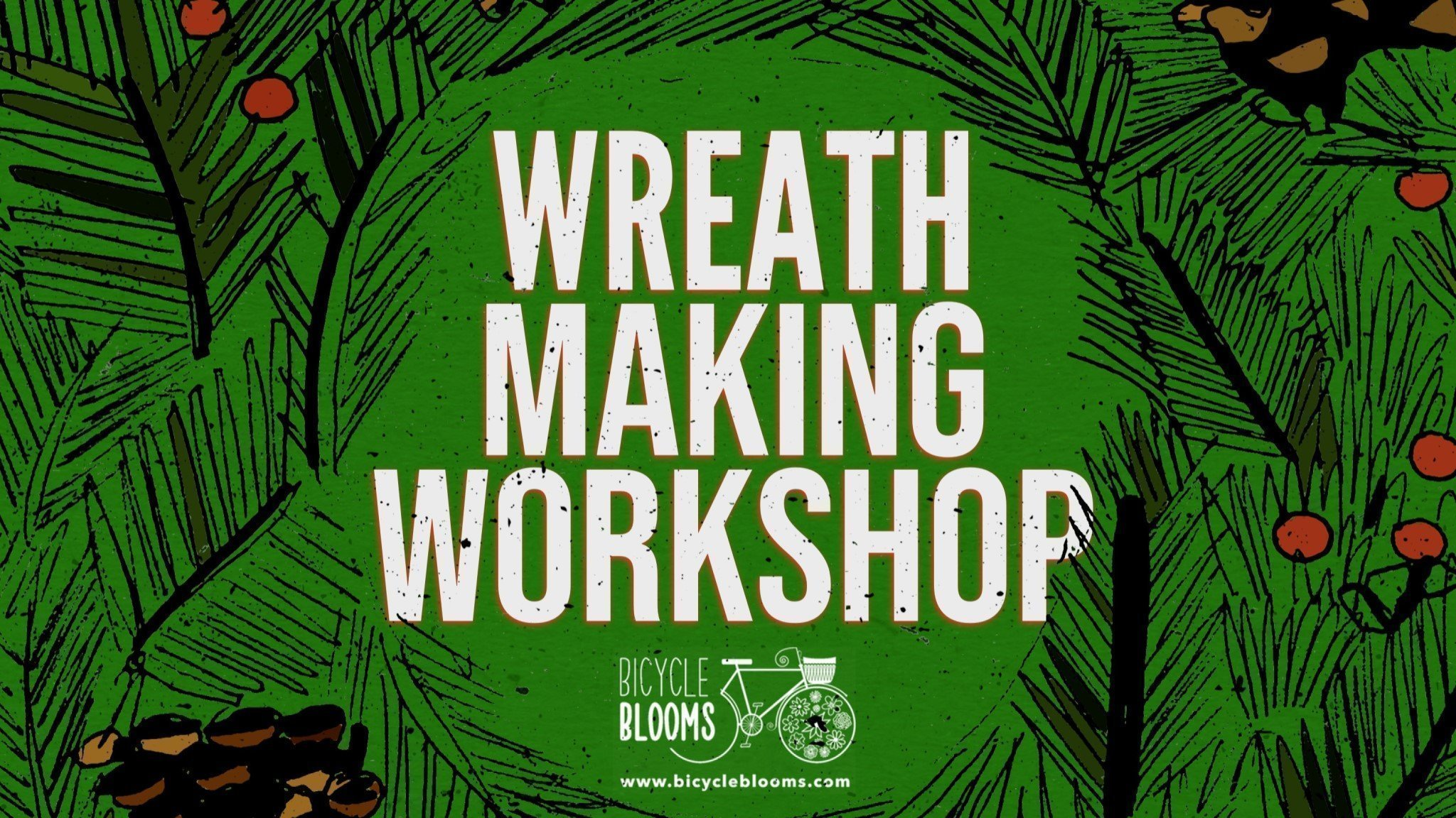 Very festive wreath making workshop at The Up In Arms, Marston
