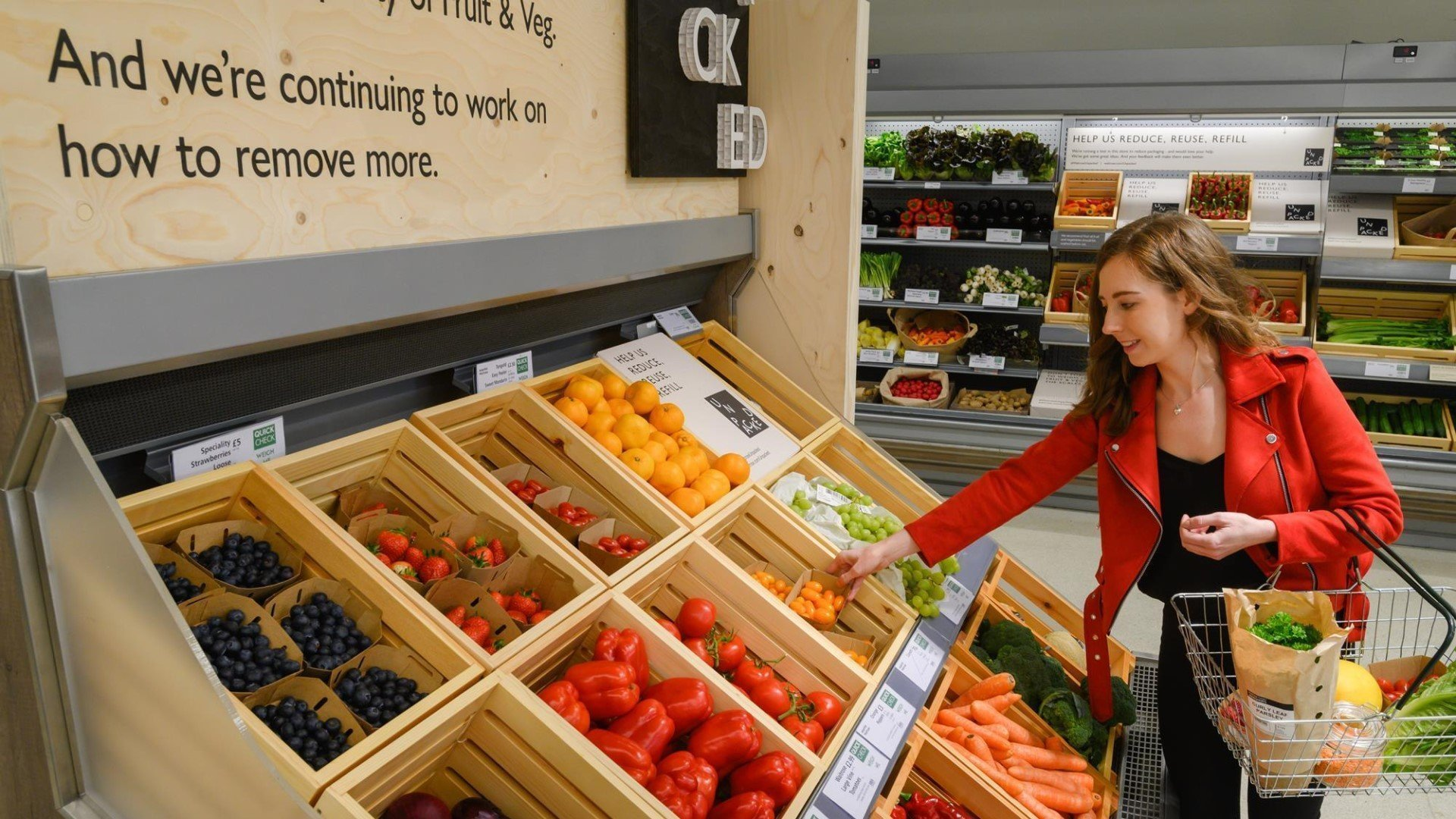 Waitrose Botley Road Oxford trails packaging-free shopping