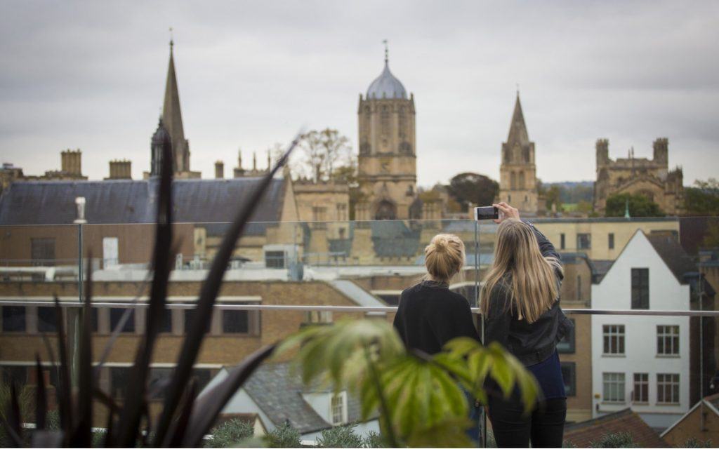 Westgate Oxford Shopping Centre Rooftop Terrace Views