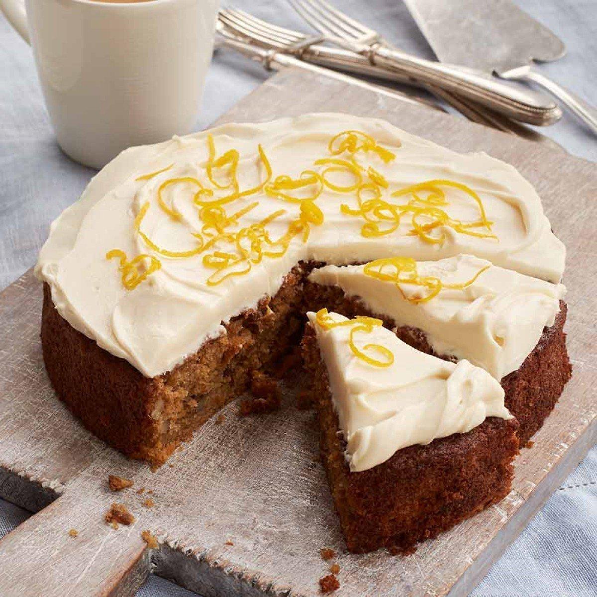 Wholewheat Carrot and Honey Cake with Mascarpone Honey Icing Recipe