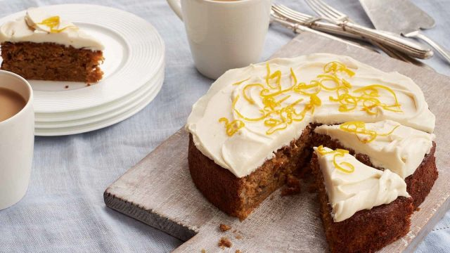 Wholewheat Carrot and Honey Cake with Mascarpone Honey Icing Recipe