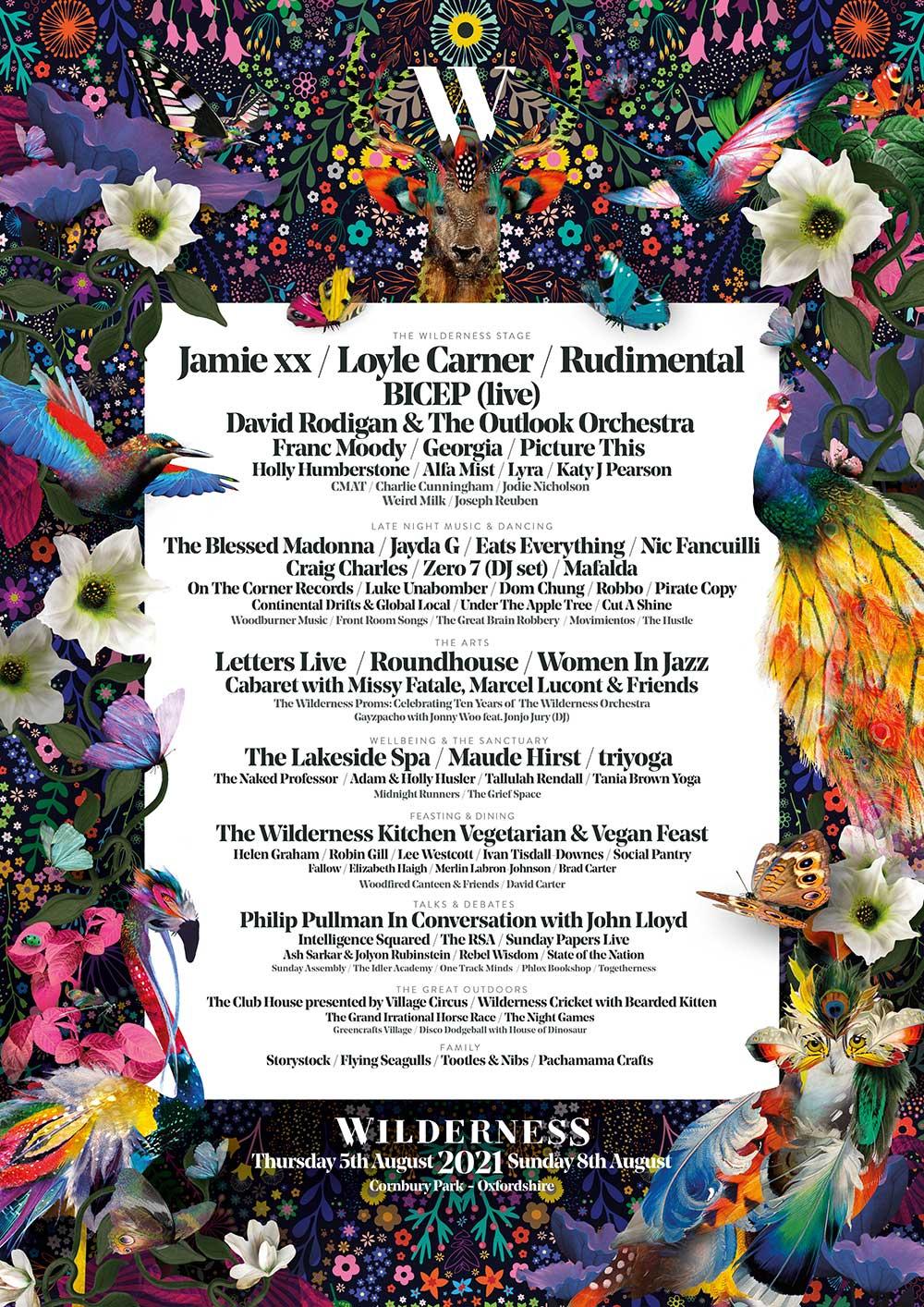 Wilderness Festival 2021 Line-up Poster