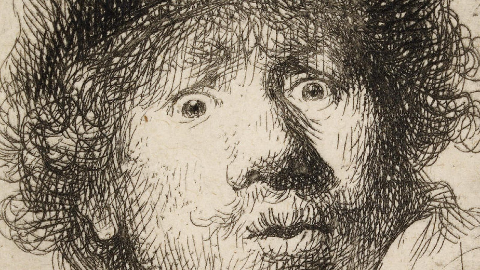 Young Rembrandt at the Ashmolean - Rembrandt Self-portrait in a Fur Cap Bust